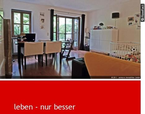 Wohnzimmer einer 2 Zimmer Wohnung in München