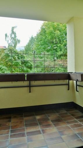 Balkon einer Wohnung mit 2 Zimmern in Schwabing München