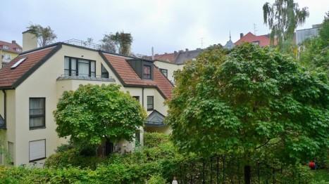Außblick aus einer 2 Zimmer Wohnung in Schwabing